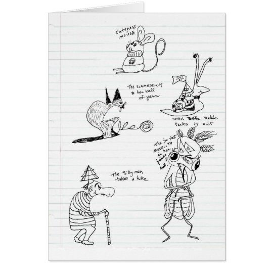 Doodles Tarjeta De Felicitación