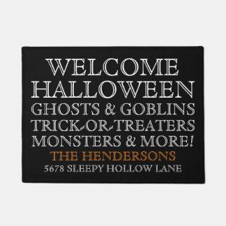 Doormat agradable personalizado de Halloween