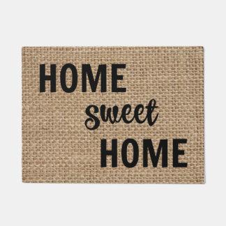Doormat casero dulce casero de la arpillera