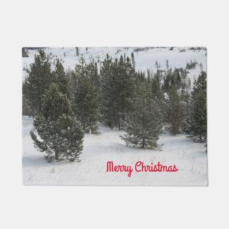 Doormat del árbol de hoja perenne de las Felices