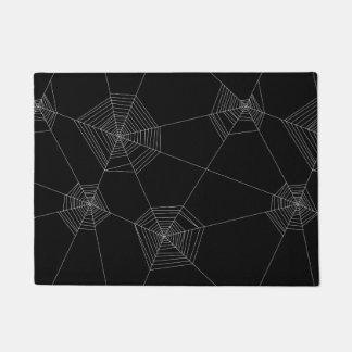 Doormat negro de los Web de araña