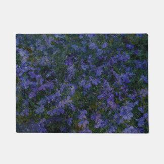 Doormat violeta azul del jardín