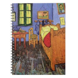 Dormitorio de Van Gogh Vincent en Arles, bella Libro De Apuntes