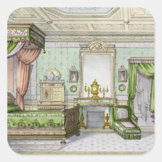 Dormitorio en el estilo del renacimiento (litho pegatina cuadrada