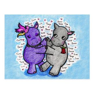 Dos a los hipopótamos del tango postal