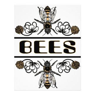 dos abejas con el trébol trans1 tarjetas publicitarias