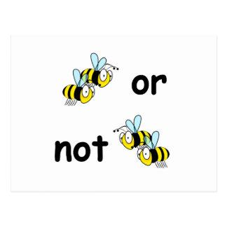 Dos abejas o no dos abejas tarjetas postales