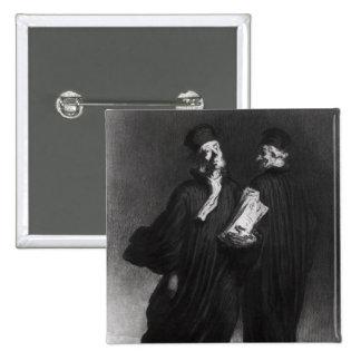 Dos abogados, c.1862 chapa cuadrada 5 cm