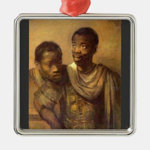 Dos africanos jovenes de Rembrandt Ornamentos De Reyes Magos