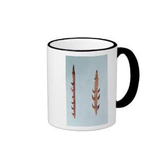 Dos arpones, período paleolítico superior taza de café
