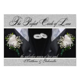 Dos boda gay de los novios | o Tuxes civiles de la Invitación 12,7 X 17,8 Cm