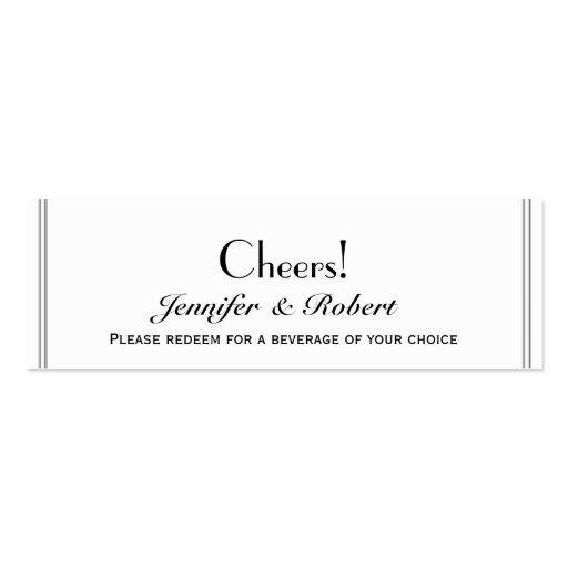 Dos boletos gay de la bebida del boda del novio de tarjetas de visita