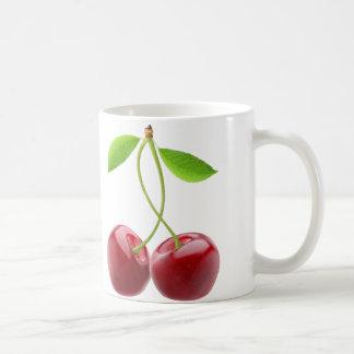 Dos cerezas dulces taza
