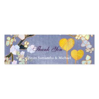Dos corazones: Etiquetas del regalo del de agradec Tarjeta De Visita