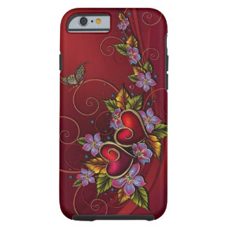 Dos corazones funda de iPhone 6 tough