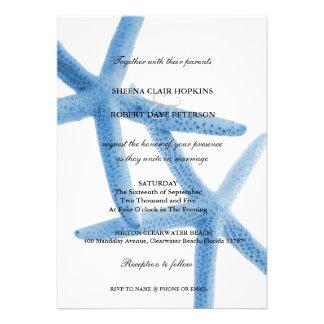 Dos de nosotros boda de las estrellas de mar del a invitacion personal