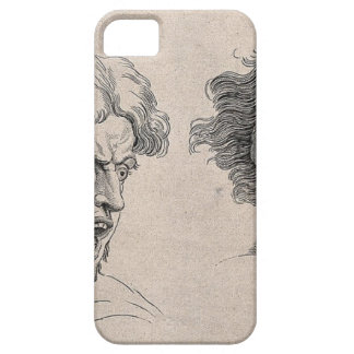 Dos dibujos de caras enojadas funda para iPhone SE/5/5s