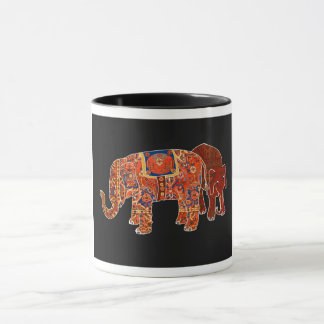 """""""Dos elefantes persas"""", taza"""