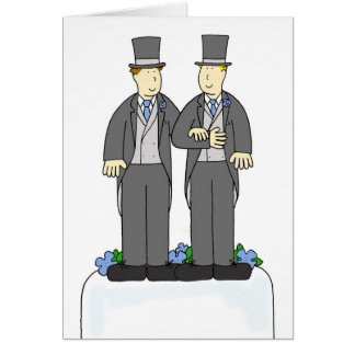 Dos enhorabuena del matrimonio homosexual de los tarjeta