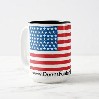 Dos entonaron la taza de café patriótica 15oz