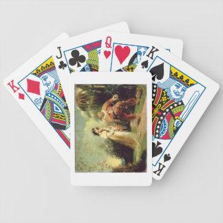 Dos figuras en traje turco en tierras del este barajas de cartas