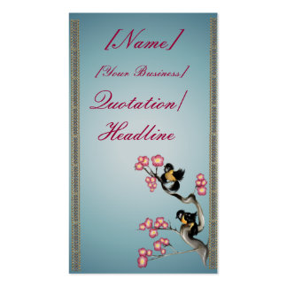Dos gorriones en un profilecard_business_v de la r tarjeta de negocio