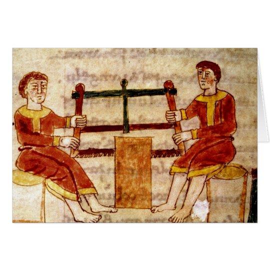 Dos hombres que asierran la madera, de 'De Tarjeta De Felicitación