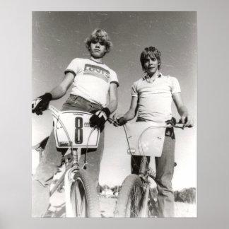 Dos impresión sujeta de la escuela vieja BMX