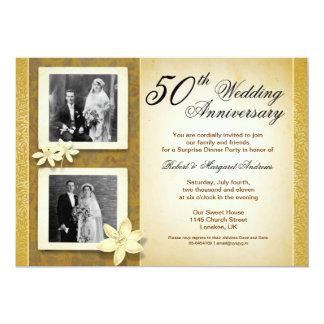 dos invitaciones del aniversario de boda de las invitación 12,7 x 17,8 cm