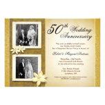 dos invitaciones del aniversario de boda de las fo invitaciones personalizada