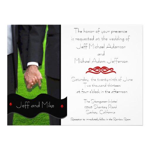 Dos invitaciones gay de encargo del boda de los no comunicados personales