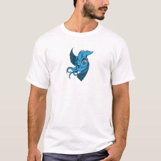 Dos juguetones entonaron el pájaro azul camiseta