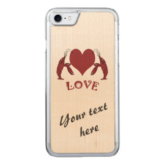 Dos langostas y corazones de los cangrejos funda para iPhone 8/7 de carved