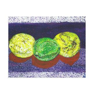 Dos limones y una impresión estirada cal del