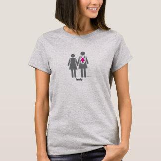 Dos mamáes y una hija camiseta