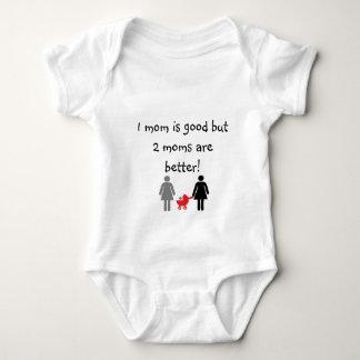 Dos mamás body para bebé