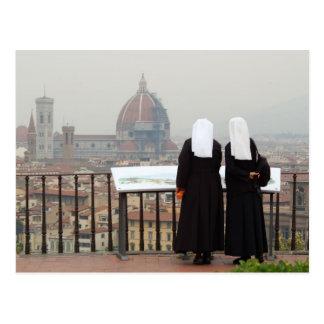 Dos monjas, Florencia, Italia Postal