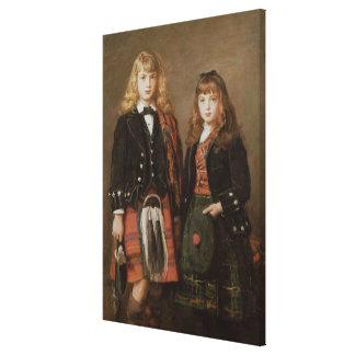 Dos niños impresión en lienzo