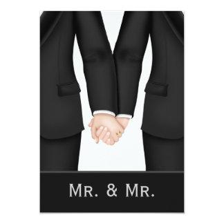 Dos novios en casarse de los juegos invitación 12,7 x 17,8 cm