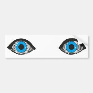 Dos ojos azules pegatina para coche