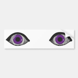 Dos ojos púrpuras pegatina para coche