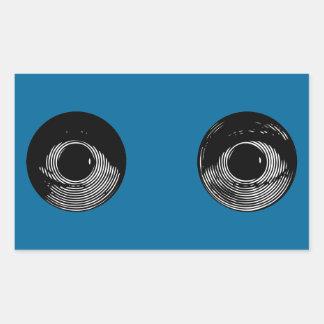Dos ojos rectangular altavoces