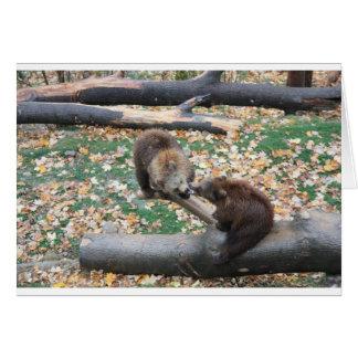 Dos osos tarjeta de felicitación