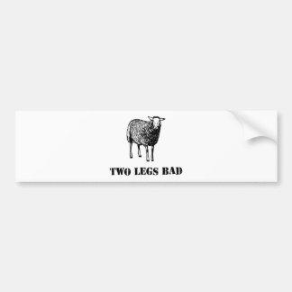 Dos ovejas del malo de las piernas pegatina para coche