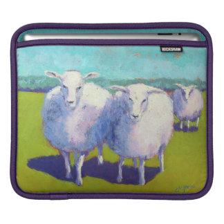 Dos ovejas en campo funda para iPad