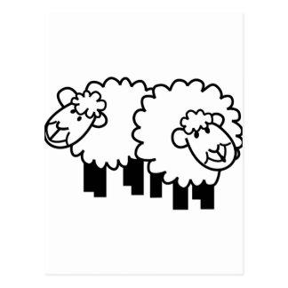 Dos ovejas postal