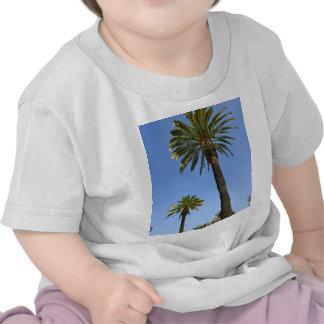 Dos palmeras con el cielo azul camiseta