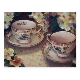 Dos para la postal del té
