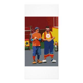 Dos payasos cartooned colores brillantes tarjetas publicitarias personalizadas
