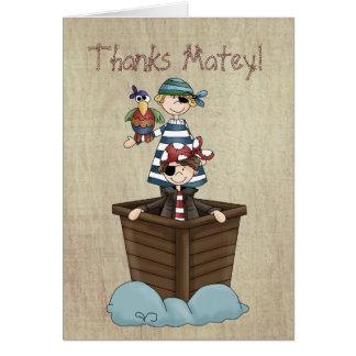 Dos piratas tarjeta